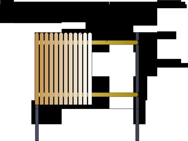 штакетник с закруглением наверху