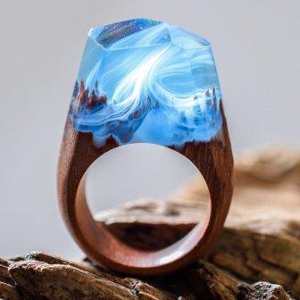 Деревянные кольца со смолой своими руками