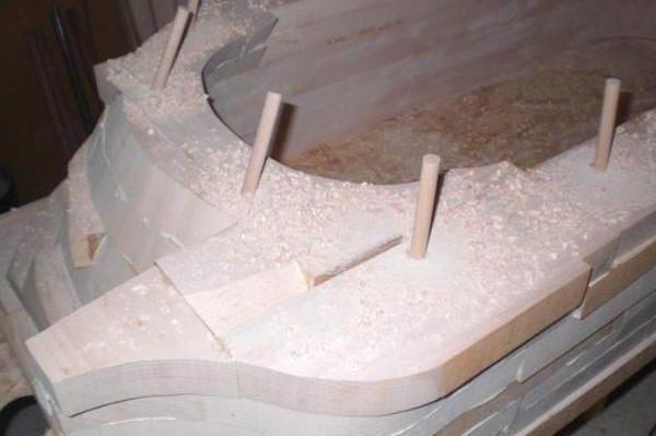 Сборка корпуса деревянной ванны