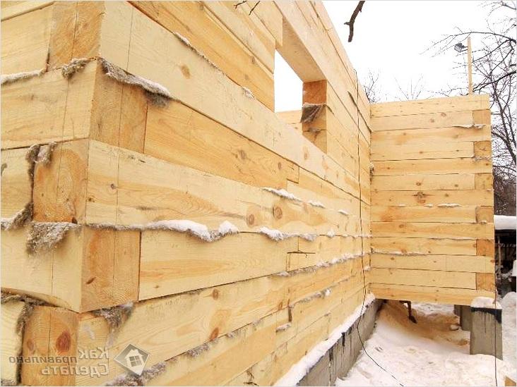 Сборка стен дома из бруса своими руками