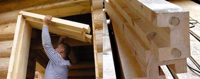 окосячка проемов своими руками в доме из бруса
