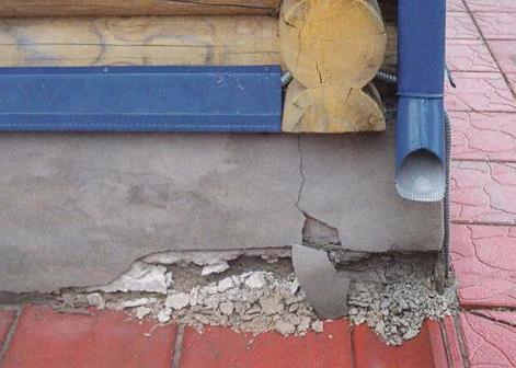 фундамент дома осыпается