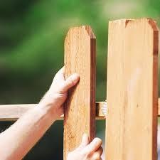устройство деревянного забора