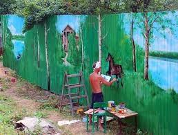 Стоимость покраски деревянного забора