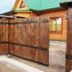 Фото деревянных заборов