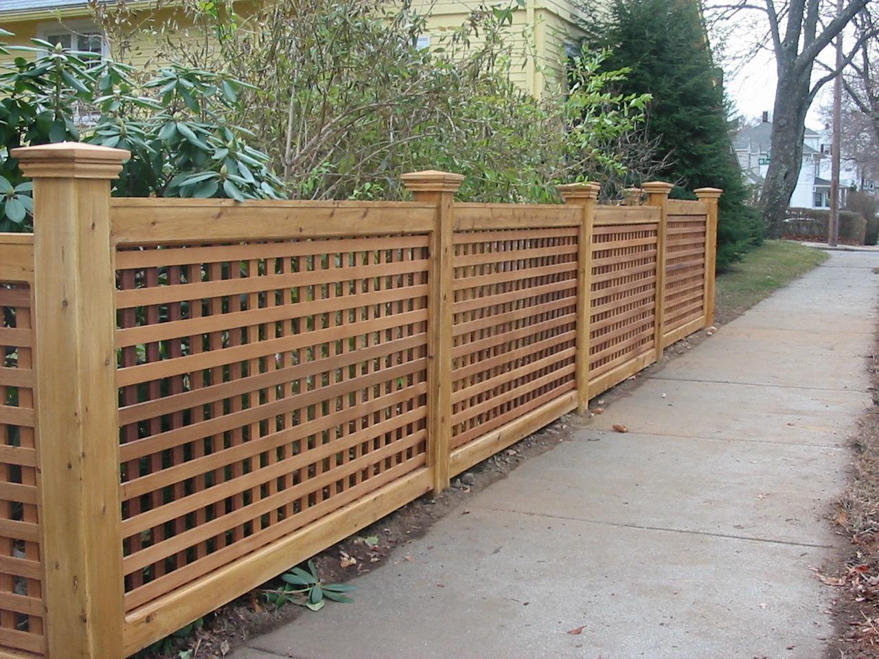 Забор-решетка своими руками
