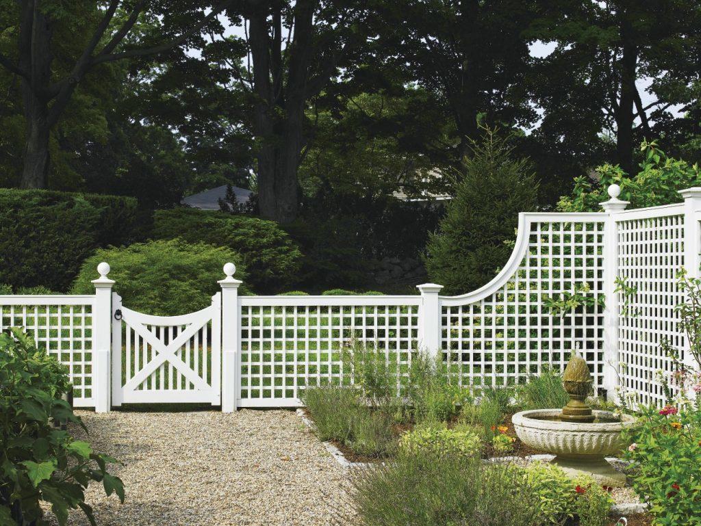 Забор решеткой своими руками фото 365