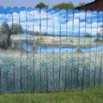 Как красиво покрасить забор из штакетника: идеи покраски