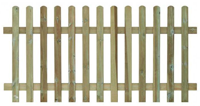 Забор из деревянного штакетника – из чего формируется стоимость конструкции