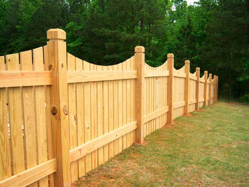 Забор из дерева для дачного участка