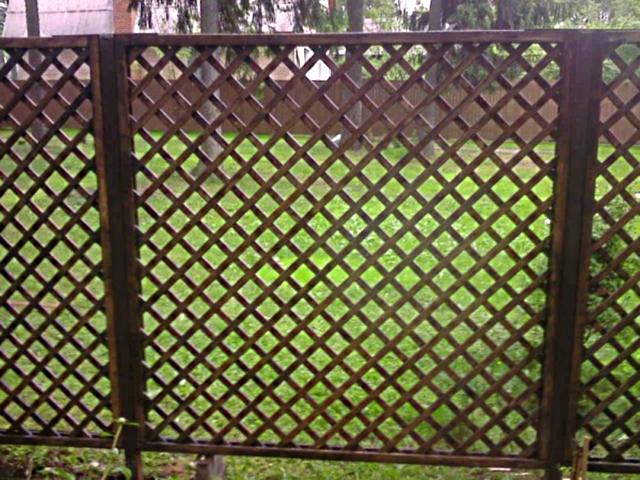 Деревянный забор решетка для частного дома