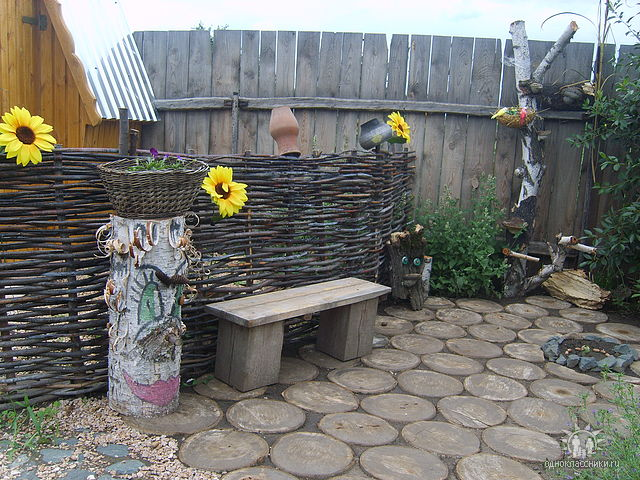 Декоративный забор плетень