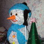 Как сделать снеговика из ниток