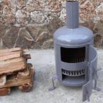Самодельная простая печь для обогрева