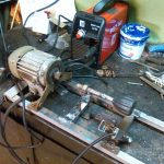 Токарный станок из двигателя от стиральной машины