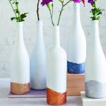 Как сделать мини вазу из стеклянной бутылки