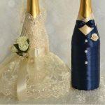 Как сделать свадебную бутылку жениха
