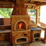 Строим печь-мангал с защитой от непогоды