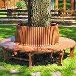 Как сделать необычную скамейку вокруг ствола дерева