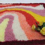 Как сделать пушистый коврик
