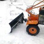 Как приделать лопату для уборки снега на мотоблок