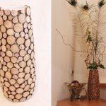 Оригинальная напольная ваза из того что под рукой