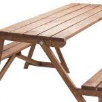 Деревянный стол-скамейка для дачи собственными руками