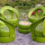 Три идеи оригинальной дачной мебели из старых покрышек