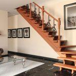 Деревянная лестница с поворотом на 90 градусов своими руками
