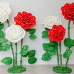 Как сделать ростовой цветок из фоамирана
