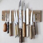 Как сделать деревянную доску с магнитами для крепления ножей на кухне