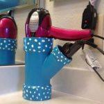 Как сделать держатель для фена в ванную комнату