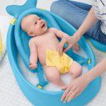 Коврик с датчиком температуры в ванную, предназначенный для купания малыша