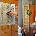 Самодельные перегородки-ширмы для квартиры-студии из подручных материалов