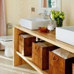 Как сделать тумбу в ванную на две встроенные раковины