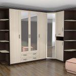 Схема изготовления напольного углового шкафа в спальню