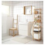 Этажерка для ванной «под старину» из деревянной доски