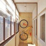Оригинальный самодельный подвес для хранения велосипеда в кладовой или на балконе