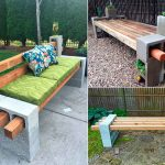 Необычная мебель из шлакоблоков для садового участка