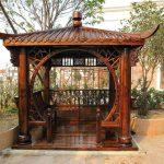 Самодельная деревянная скамейка в японском стиле