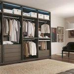 Как сделать гардеробную открытого типа в спальню