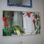 Как сделать декоративный витраж на зеркале