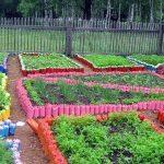 Как сделать пластиковые ограждения для овощных грядок