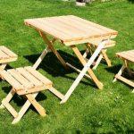 Садовый столик для пикника своими руками