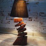 Лампа из остатков дерева: дешево и очень красиво