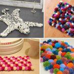 Как сплести коврик в ванную из шерстяных шариков