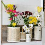Декоративные настенные вазочки из того что под рукой