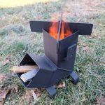 Безопасная печь-ракета для дачи и походов своими руками