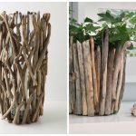 Как сделать вазу из древесных веточек