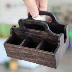 Стильная деревянная салфетница своими руками
